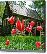 Red Flowers In Central Park Acrylic Print