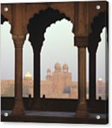 Red Fort From The Jama Masjid Acrylic Print