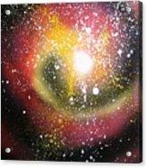 Red Galaxy Acrylic Print