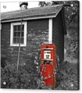Red Gas Pump Acrylic Print