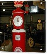 Red Gas Pump Acrylic Print