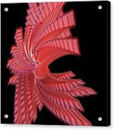 Red Glass Abstract Acrylic Print