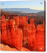 Red Glow In Bryce Canyon Acrylic Print