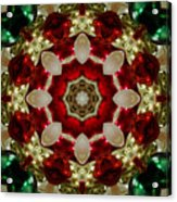 Red Gold Green Kaleidoscope 2 Acrylic Print