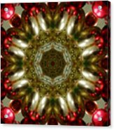 Red Gold Kaleidoscope 1 Acrylic Print