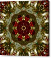 Red Gold Kaleidoscope 2 Acrylic Print