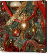Red Gold Tree No 2 Fashions For Evergreens Event Hotel Roanoke 2009 Acrylic Print
