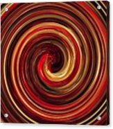 Have A Closer Look. Red-golden Spiral Art Acrylic Print