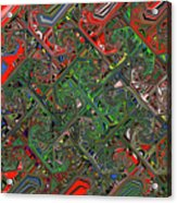 Red Green Blue Compressed Acrylic Print