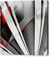 Red-grey Abstractum Acrylic Print