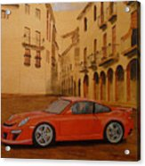 Red Gt3 Porsche Acrylic Print