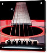 Red Guitar 16 Acrylic Print