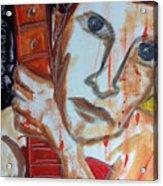Red Guitar Acrylic Print