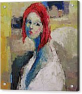 Red Haired Girl Acrylic Print