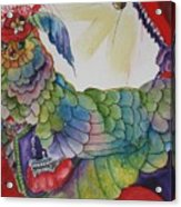 Red Hat Chick With Purse Acrylic Print