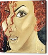 Red Head Acrylic Print