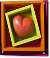 Red Heart In Box Acrylic Print