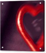Red Heart Mirror Acrylic Print