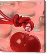 Red Heart Of Love Acrylic Print