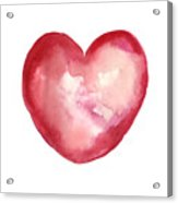 Red Heart Valentine's Day Gift Acrylic Print