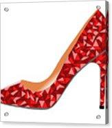 Red High Heel Shoe Acrylic Print