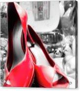 Red High Heels Acrylic Print