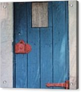 Red Hinges Acrylic Print by Bob Whitt