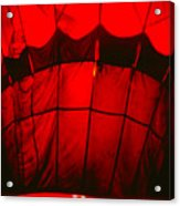 Red Hot Air Balloon Acrylic Print