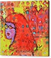 Red Hot Summer Girl Acrylic Print