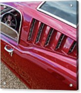 Red Hot Vents - Classic Fastback Mustang Acrylic Print