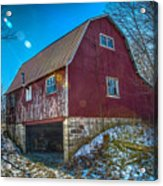Red Indiana Barn Acrylic Print