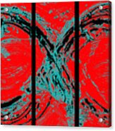 Red Infinity Modern Painting Abstract By Robert R Splashy Art Acrylic Print
