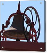 Red Iron Bell Acrylic Print