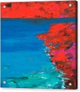 Red Island Acrylic Print