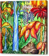 Red Jungle. Alien Planet Acrylic Print