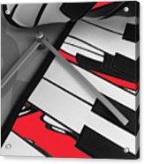 Red Keys Acrylic Print