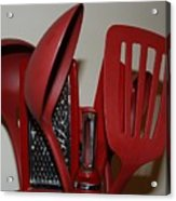 Red Kitchen Utencils Acrylic Print