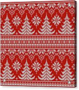 Red Knitted Winter Sweater Acrylic Print