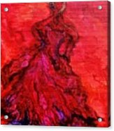 Red Lady Acrylic Print