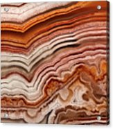 Red Laguna Lace Agate Acrylic Print
