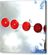 Red Lanterns In Chinatown Acrylic Print