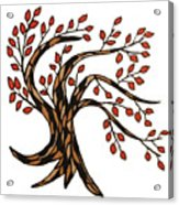 Red-leafed Tree Acrylic Print