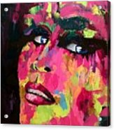 Red Light Offer, Palette Knife Painting Acrylic Print