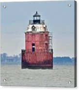 Red Lighthouse At The Sandy Point State Park Acrylic Print