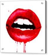 Red Lips 3  Acrylic Print