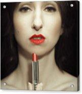 Red Lipstick Acrylic Print