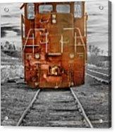 Red Locomotive Acrylic Print