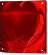 Red Love . A120423.279 Acrylic Print by Wingsdomain Art and Photography