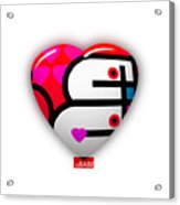 Red Love Heart Acrylic Print