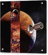 Red Mars Cover Painting Acrylic Print